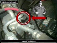2008 Chevrolet Silverado 1500 - Low Side Port for A/C Recharge #acprocold #acpro #r134a #refrigerant - www.acprocold.com