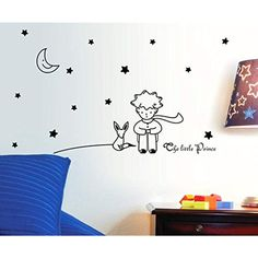 Sunshine Homes Wall Sticker Decal The Little prince Kids Bedroom Nursery Daycare and Kindergarten Mural Home Decor DIY Self adhesive Removable -- Check this awesome product by going to the link at the image. (This is an affiliate link)