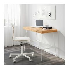 IKEA   LILLÅSEN, Desk, , Bamboo Is A Durable, Renewable And Sustainable  Material.Can Be Placed Anywhere In The Room Because The Back Is Finished. Good Looking