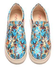 Look at this #zulilyfind! Light Blue Speckle Slip-On Sneaker #zulilyfinds