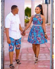 Online Hub For Fashion Beauty And Health: Stunningly Colorful Ankara Short Gown And Knicker . Couples African Outfits, Couple Outfits, African Attire, African Wear, African Women, African Style, African Fashion Ankara, Latest African Fashion Dresses, African Print Fashion