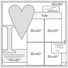Awww! Such a cute scrapbook page idea sketch!