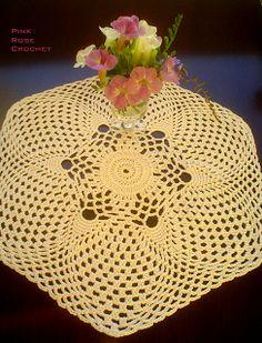 \ PINK ROSE CROCHET /: Toalhinha Flor Estrela - Crochê