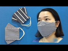 How to sew a mask in 4 minutes/Cách may khẩu trang trong 4 phút/Coser máscaras en 4 minutos Sewing Patterns Free, Sewing Tutorials, Sewing Hacks, Sewing Crafts, Free Sewing, Easy Face Masks, Diy Face Mask, Homemade Face Masks, Mascara 3d