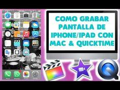 HOW TO RECORD IPHONE/IPAD SCREEN ON MAC #Iphone #Ipad #Mac #Tecnology #FCP #Imovie #QuickTime #VideoEditor #DIY #Camara