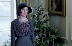 Lady Edith's outfit enhanced by a beautiful embroidered blouse.