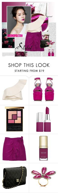 """""""Today is beautiful and so are you"""" by stephaniee90 ❤ liked on Polyvore featuring Oris, Isabel Marant, Gucci, Yves Saint Laurent, Clinique, Nanette Lepore, Dolce&Gabbana, Chanel and Nush"""