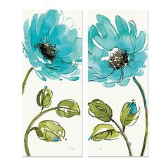 Featuring 2 exquisite floral watercolors, the 2-Piece Morning Dew IV Canvas Wall Art has grace and bright colors to enhance any room of your home. Ready to hang and inspire you and your guests.