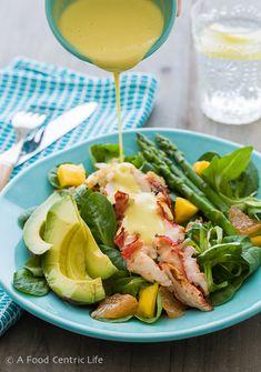 Lobster Salad with Creamy Citrus Dressing Recipe - RecipeChart.com