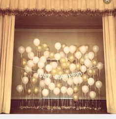 Just married Balloon backdrop
