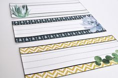Have you considered doing a succulent theme for your classroom? This decor set is a growing resource, and is full of beautiful and easy classroom decor materials. Simply print, laminate, and go to create a lovely and serene classroom! The packet has a succulent theme woven throughout, as well as blues and mustard yellow. Click here to bring this theme into your classroom!