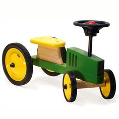 Simply Wholesale wholesale member offer - Ride on Wooden Tractor. New UK wholesale deals constantly being added. Wooden Ride On Toys, Wooden Car, Wood Toys, Dyi Crafts, Wood Crafts, Crafts For Kids, Pull Wagon, Baby Bike, Toy Rooms