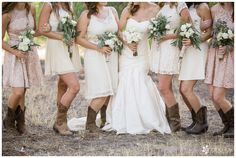 Mismatched Country Style Bridemaids Dresses - comfort is key! // Wedding: Robert & Kelsey | Red Barn Ranch, CA | Analisa Joy Photography | San Diego, CA Photographer