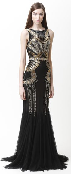 Modern twist to Art Deco - Badgley Mischka                                                                                                                                                                                 More