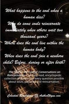 """A #soul exists; the #energy #exists #forever. It is #eternal. It never #dies and it only gets #born in the #human #incarnation sense."" From Chapter 1, 'The Soul'; in 'The Soul On The Ceiling', discussions of the #afterlife & #reincarnation by Anthea Wynn.  Books By Spirits @ http://antheawynn.com/"