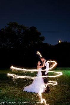 Sparklers for your wedding day  www.jfnodarse.com