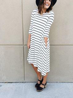 The Insider Stripe Dress | ROOLEE
