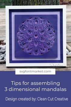 This tutorial will show you how to assemble this beautiful Mandala that has been foiled first. There are several suggestions that will help with assembling any layered mandala. 3d Cuts, Paper Art, Paper Crafts, Flower Shadow Box, D Craft, Cricut Tutorials, Laser Cut Wood, Cricut Creations, Mandala Design