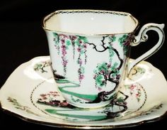 QUEEN BLOSSOM Pagoda  Tea cup and saucer Teacup