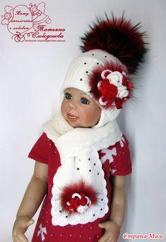 Зимние шапочки, комплекты с меховыми помпошками!! Новые работы. часть 1 - Вязание для детей - Страна Мам