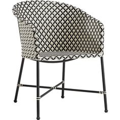 brava dining-lounge grey wicker chair | CB2