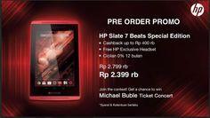 Pre Order Promo HP Slate 7 Beats di Bhinneka.com 9-16 januari 2015