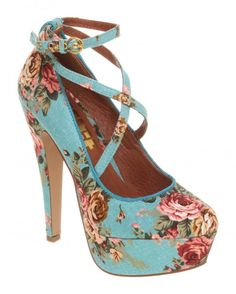 I love floral shoes :)