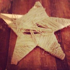 "This ""easy"" twine star makes a great Christmas decoration when done right. #pinerestfail"