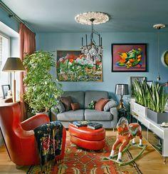 Квартира декоратора Ирины Дымовой в Москве, 37 м² #color #moscow #interiors #smallroom