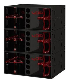 """VOID Stasys Xair 3.2kW 2 x 18"""" subwoofer (3 shown)"""