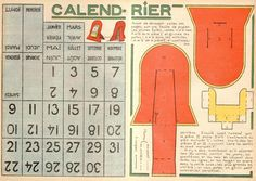 Cut out and make perpetual calendar.