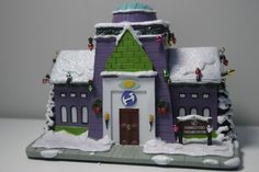 SIMPSONS HAWTHORNE CHRISTMAS VILLAGE Stonecutter's Daycare Center W COA Rare!