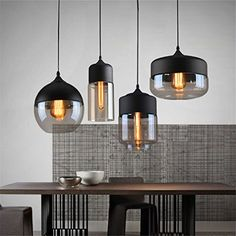 Vintage Pendant Lights Globe Glass Pendant Lamp For Kitchen Living Room Modern Light Fixtures industrial Hanging Lamp Lighting Kitchen Pendant Lighting, Led Pendant Lights, Modern Pendant Light, Glass Pendant Light, Glass Pendants, Glass Chandelier, Modern Dining Room Lighting, Pendant Lamps, Mini Pendant