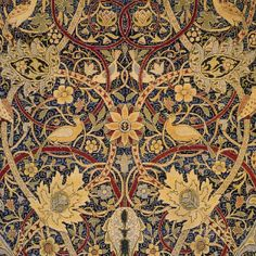 William Morris Bullerswood Design Arts and Crafts Counted Cross Stitch Pattern Textures Patterns, Fabric Patterns, Applique Patterns, Pre Raphaelite, Textiles, Patterned Carpet, Arts And Crafts Movement, Counted Cross Stitch Patterns, Design Art