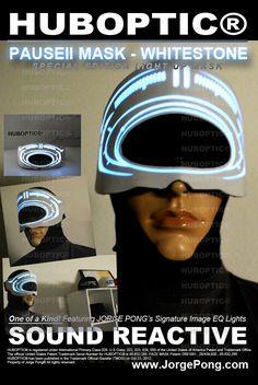 Huboptic Pause II Whitestone DJ Mask