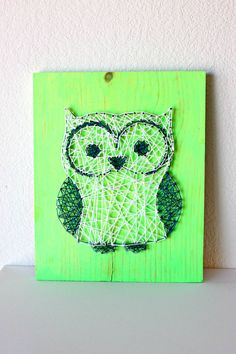 Owl String Art | therusticwillow.com