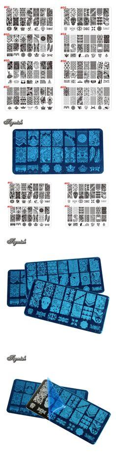Tignish 1Pcs Nail Stamp Stamping Lace Image Plate Print Nail Art Polish Template DIY Manicure Tools