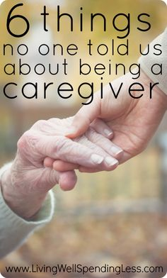 6 things no one told us about being a caregiver. An honest look at the challenges of caring for an elderly parent....and, with the benefit of hindsight, what things couldve been done differently to make the process a little easier.