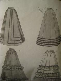 Butterick 3418 Sewing Pattern, Historical Pattern, Long Skirt Pattern, Costume Pattern, Sizes 6, 8, 10