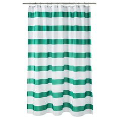 Room Essentials® Rugby Stripe Shower Curtain - Green but in royal blue in the store