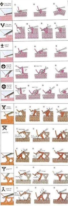 Crochet Stitches And Sizes Guide Crochet Techniques crochet techniques and tips Crochet Stitches Free, Crochet Basics, Knitting For Beginners, Knitting Stitches, Knitting Patterns, Crochet Patterns, Knitting Ideas, Beginners Sewing, Crochet Stitches For Beginners