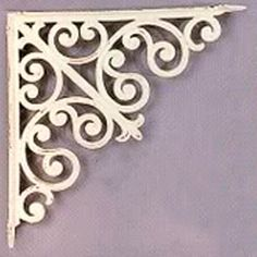 """Create a beautiful shelf display with these authentic cast iron shelf brackets. Available in three different sizes, these brackets are sold individually brbrliDimensions: (Sm) 5.5""""w x 5.5""""h (Md)..."""