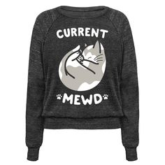 Current Mewd: Catnap (White) Pullover