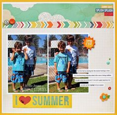 I Heart Summer by Donna Jannuzzi - using Simple Stories I {Heart} Summer