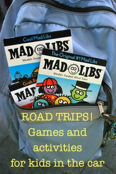 Games for Kids on Road Trips Madlibs for the Car- Kid World Citizen