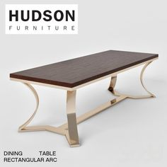 3d модели: Столы - HUDSON RECTANGULAR ARC TABLE