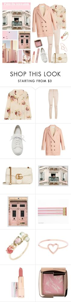 """""""Contest - So Fresh: White Sneakers"""" by belledenuit ❤ liked on Polyvore featuring Joie, AG Adriano Goldschmied, Santoni, Raey, Gucci, Pottery Barn, Ricardo, Jacquie Aiche, Love Is and LAQA & Co."""
