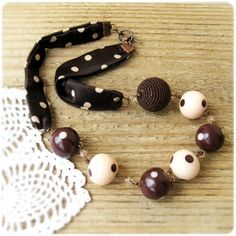 ON SALE Necklace Polka Dot Balls Necklace
