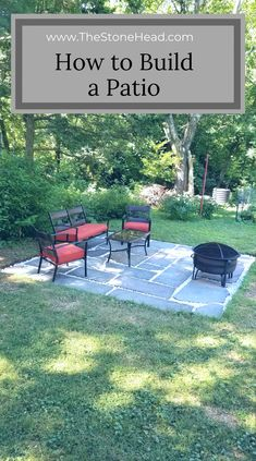 Here s how to build a slate patio on a budget With tips on how to get cheap material diyoutdoor budget makeover backyard backyarddesign deckbuildingcheap patiopaversonabudget # Backyard Patio Designs, Small Backyard Landscaping, Backyard Projects, Diy Patio, Backyard Pools, Cheap Backyard Ideas, Cheap Patio Floor Ideas, Landscaping Shrubs, Florida Landscaping