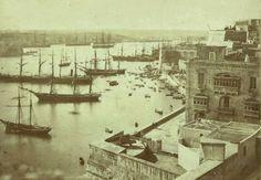 Grand Harbour Valletta Malta 1881